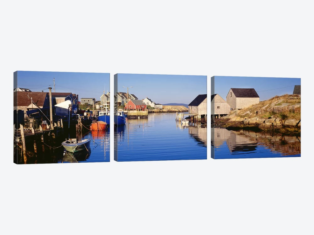 Cove View, Peggy's Cove, Halifax, Nova Scotia, Canada by Panoramic Images 3-piece Canvas Print