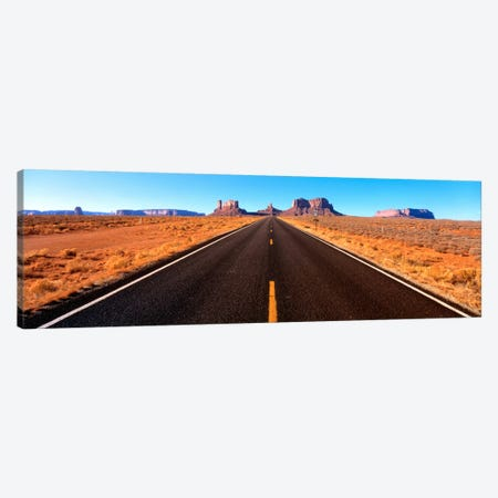 View Of Monument Valley From U.S. Route 163, Navajo Nation, Utah, USA Canvas Print #PIM721} by Panoramic Images Canvas Art Print
