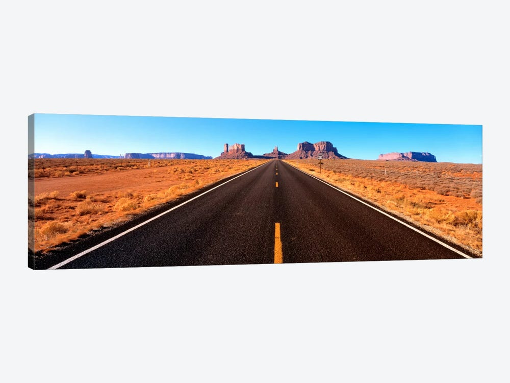 View Of Monument Valley From U.S. Route 163, Navajo Nation, Utah, USA by Panoramic Images 1-piece Canvas Wall Art