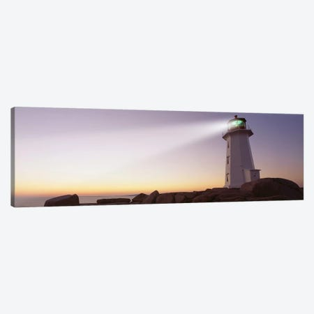 Peggy's Point Lighthouse, Peggy's Cove, Halifax, Nova Scotia, Canada Canvas Print #PIM7220} by Panoramic Images Canvas Art Print