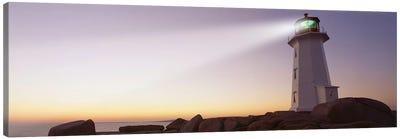 Peggy's Point Lighthouse, Peggy's Cove, Halifax, Nova Scotia, Canada Canvas Art Print