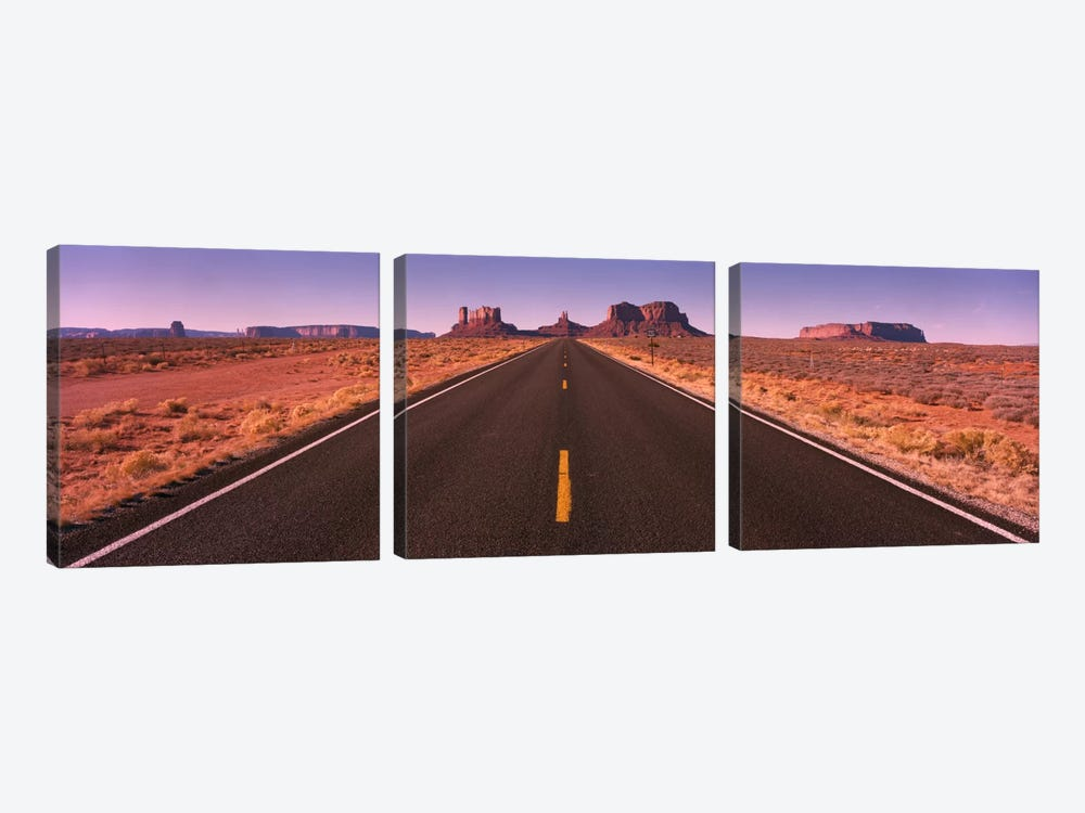 Road Monument Valley AZ USA by Panoramic Images 3-piece Art Print