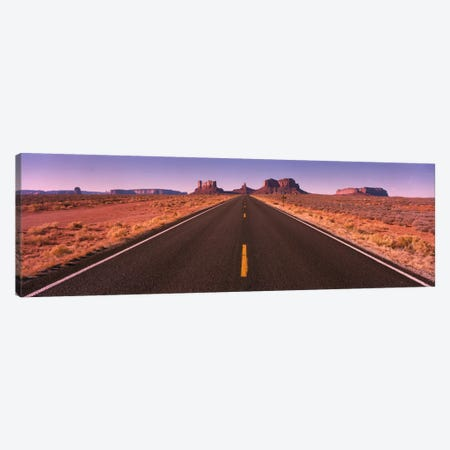 Road Monument Valley AZ USA 3-Piece Canvas #PIM722} by Panoramic Images Canvas Art Print