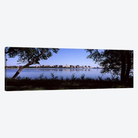 Buildings at the waterfront, Lake Monona, Madison, Dane County, Wisconsin, USA Canvas Print #PIM7230} by Panoramic Images Canvas Art