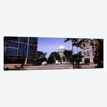 Government building in a cityWisconsin State Capitol, Madison, Wisconsin, USA Canvas Print #PIM7231} by Panoramic Images Canvas Art