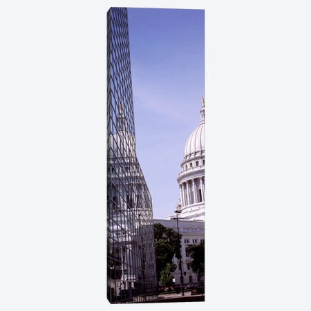 Low angle view of a government buildingWisconsin State Capitol, Madison, Wisconsin, USA Canvas Print #PIM7232} by Panoramic Images Canvas Wall Art