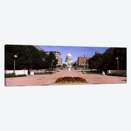 Footpath leading toward a government buildingWisconsin State Capitol, Madison, Wisconsin, USA Canvas Print #PIM7233} by Panoramic Images Canvas Artwork