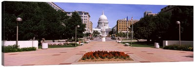 Footpath leading toward a government buildingWisconsin State Capitol, Madison, Wisconsin, USA Canvas Print #PIM7233