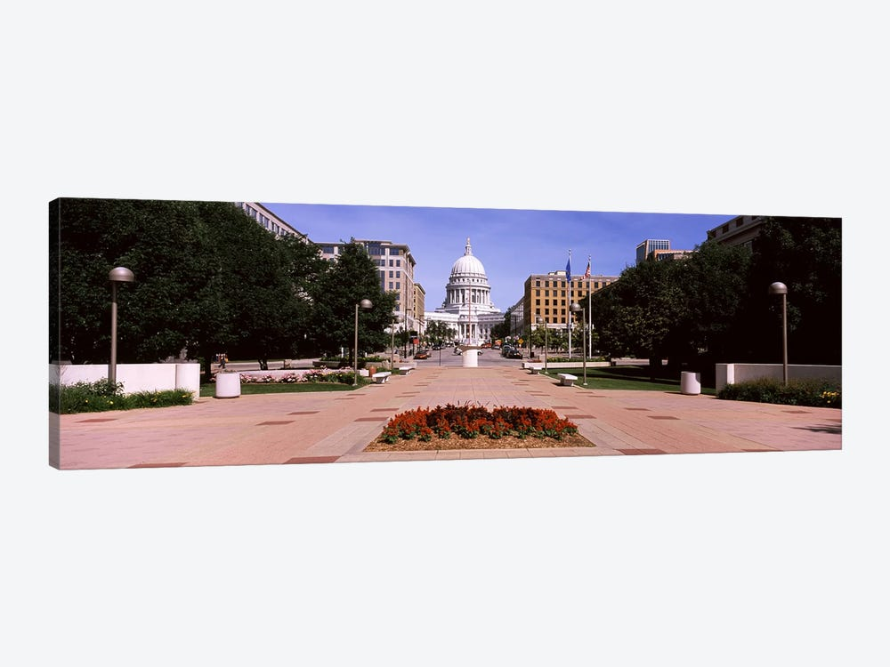 Footpath leading toward a government buildingWisconsin State Capitol, Madison, Wisconsin, USA by Panoramic Images 1-piece Art Print