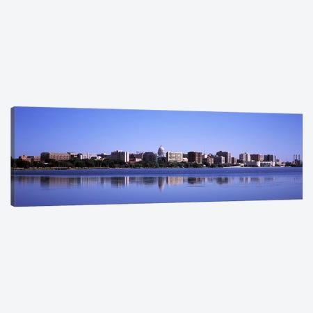 Buildings at the waterfront, Lake Monona, Madison, Dane County, Wisconsin, USA Canvas Print #PIM7234} by Panoramic Images Art Print