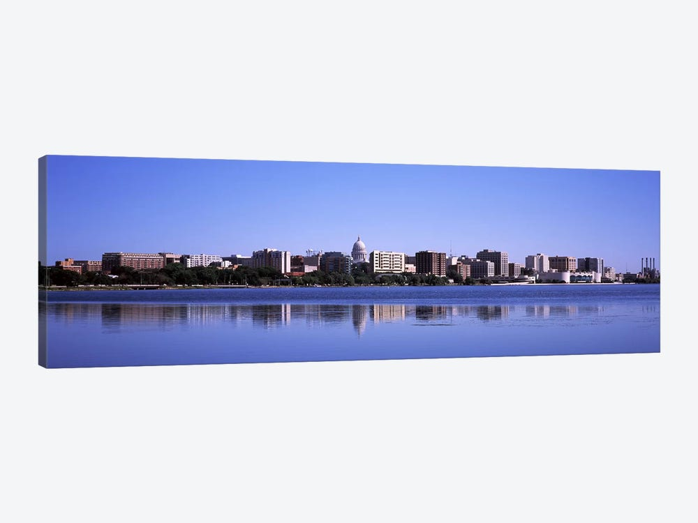 Buildings at the waterfront, Lake Monona, Madison, Dane County, Wisconsin, USA by Panoramic Images 1-piece Canvas Art