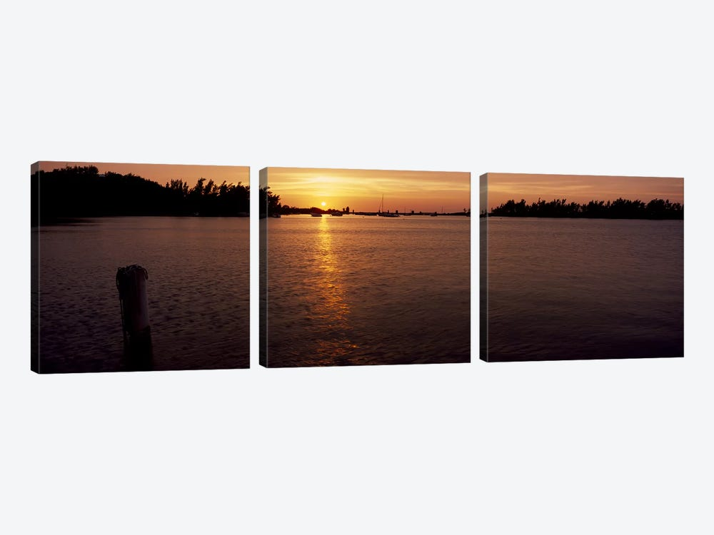 Sunrise over the sea, Bermuda by Panoramic Images 3-piece Canvas Art