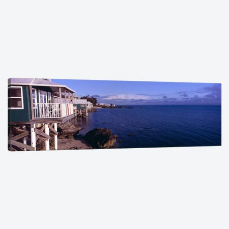 Cabanas on the beachBermuda Canvas Print #PIM7237} by Panoramic Images Art Print