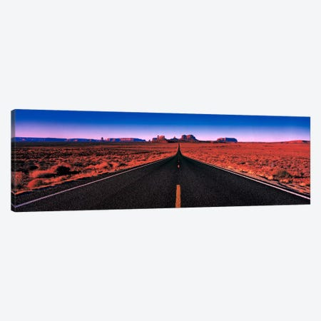 Road Monument Valley Tribal Park UT USA Canvas Print #PIM723} by Panoramic Images Canvas Art Print
