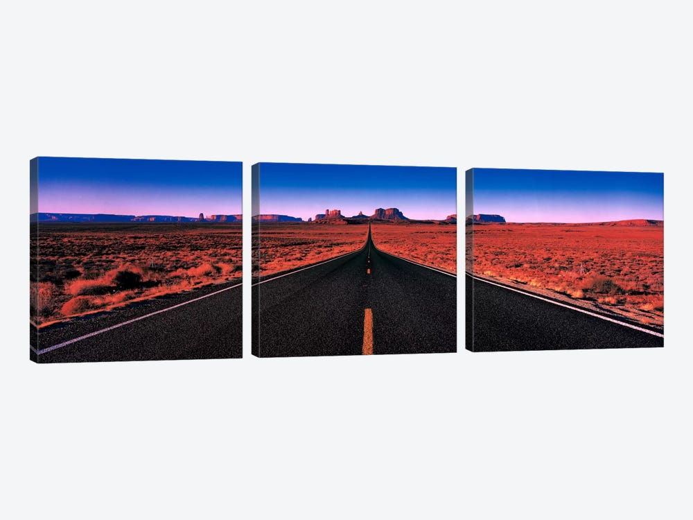 Road Monument Valley Tribal Park UT USA by Panoramic Images 3-piece Canvas Artwork