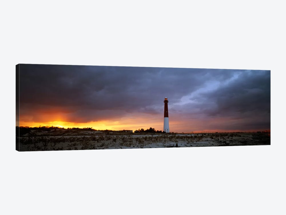 Barnegat Light (Old Barney), Barnegat Lighthouse State Park, Long Beach Island, Ocean County, New Jersey, USA by Panoramic Images 1-piece Canvas Art Print