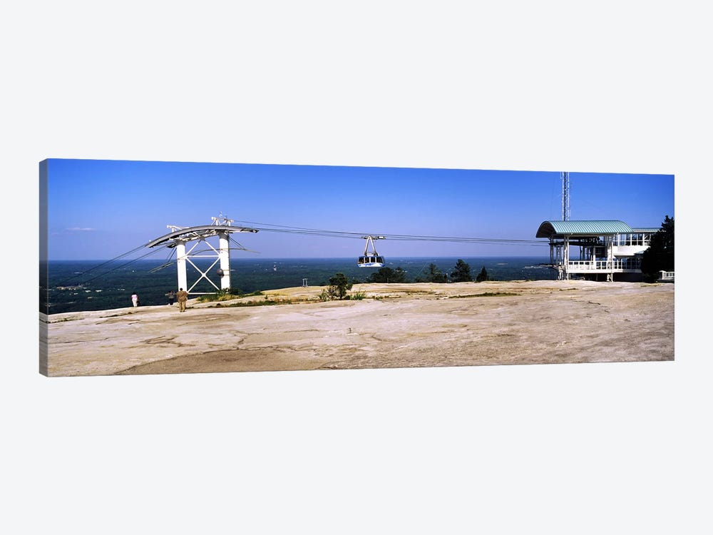 Overhead cable car on a mountainStone Mountain, Atlanta, Georgia, USA by Panoramic Images 1-piece Canvas Artwork