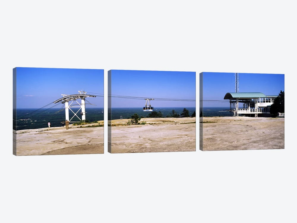 Overhead cable car on a mountainStone Mountain, Atlanta, Georgia, USA by Panoramic Images 3-piece Canvas Wall Art