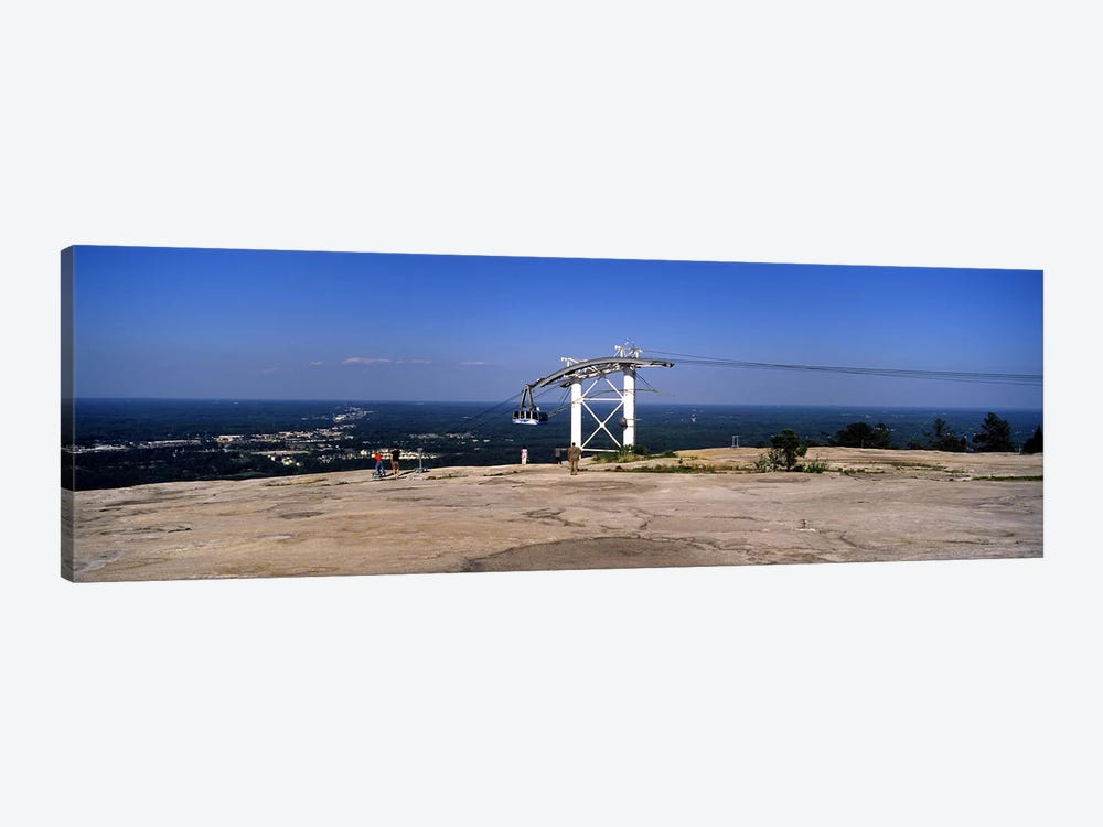 Overhead cable car on a mountain, Stone Mountain, Atlanta, Georgia, USA by Panoramic Images 1-piece Canvas Artwork
