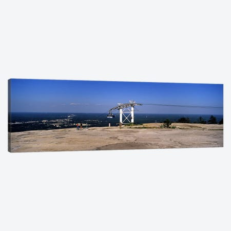 Overhead cable car on a mountain, Stone Mountain, Atlanta, Georgia, USA 3-Piece Canvas #PIM7256} by Panoramic Images Art Print