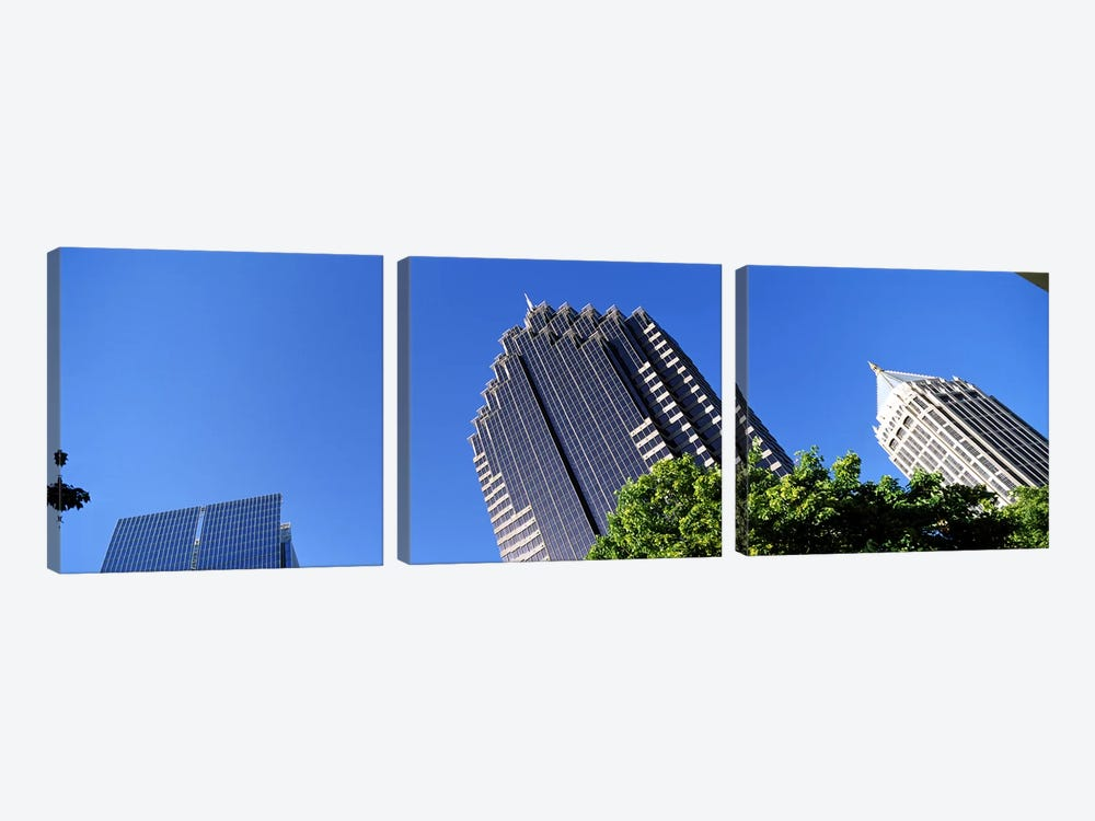 Skyscrapers in a city, Atlanta, Fulton County, Georgia, USA by Panoramic Images 3-piece Canvas Wall Art