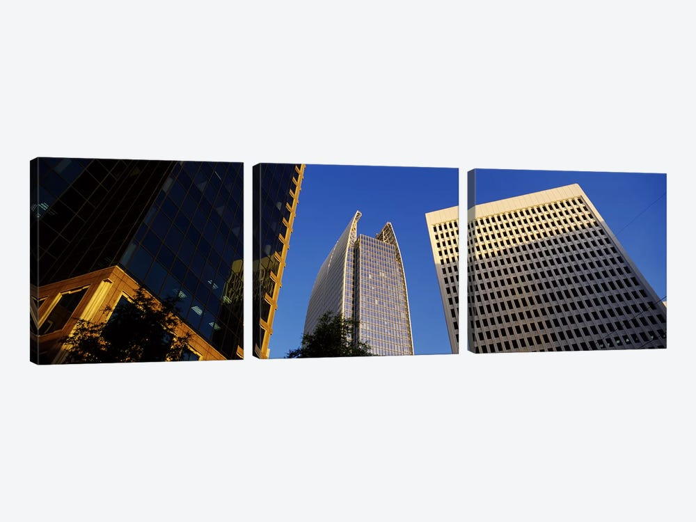 Skyscrapers in a city, Atlanta, Fulton County, Georgia, USA #2 by Panoramic Images 3-piece Canvas Print