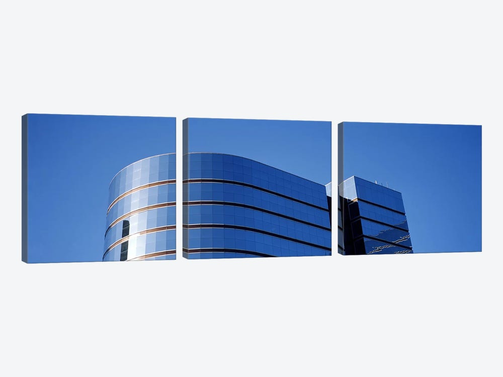 High section view of a building, Midtown plaza, Atlanta, Fulton County, Georgia, USA by Panoramic Images 3-piece Canvas Art