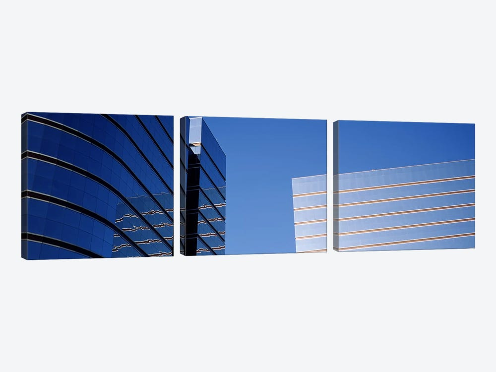 Skyscrapers in a city, Midtown plaza, Atlanta, Fulton County, Georgia, USA by Panoramic Images 3-piece Art Print