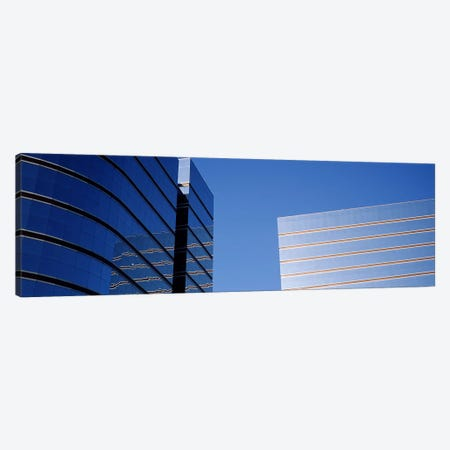 Skyscrapers in a city, Midtown plaza, Atlanta, Fulton County, Georgia, USA 3-Piece Canvas #PIM7268} by Panoramic Images Canvas Art Print
