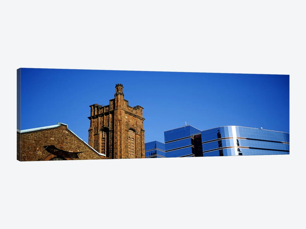 High section view of buildings in a city, Presbyterian Church, Midtown plaza, Atlanta, Fulton County, Georgia, USA by Panoramic Images 1-piece Canvas Artwork