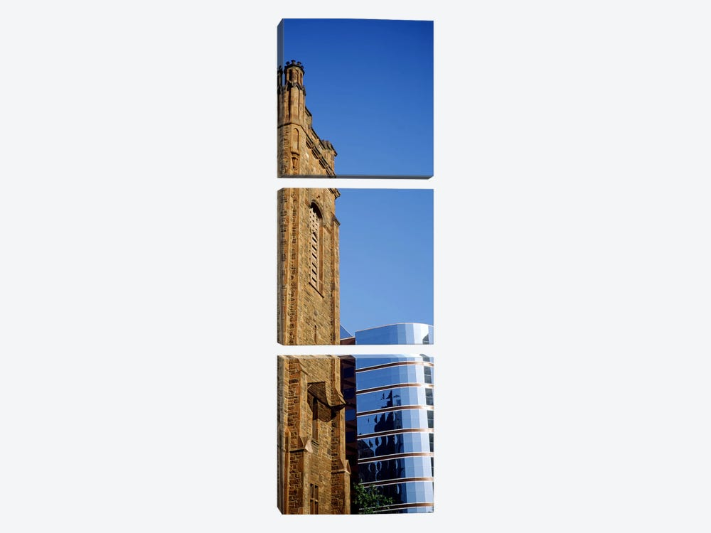 Skyscrapers in a city, Presbyterian Church, Midtown plaza, Atlanta, Fulton County, Georgia, USA by Panoramic Images 3-piece Canvas Artwork