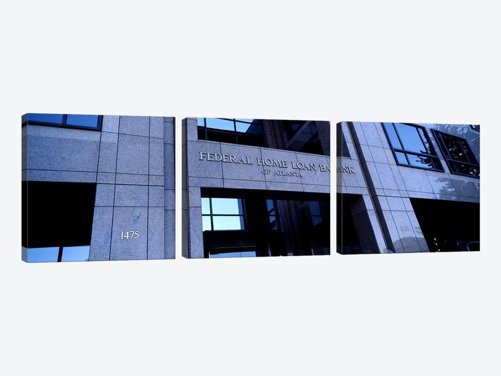 Facade of a bank building, Federal Home Loan Bank, Atlanta, Fulton County, Georgia, USA by Panoramic Images 3-piece Canvas Art Print