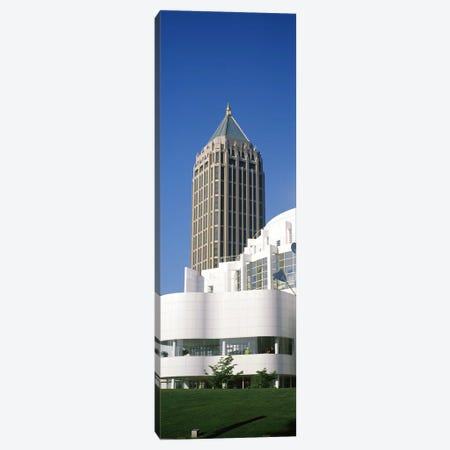 Art museum in front of a skyscraper, High Museum Of Art, Atlanta, Fulton County, Georgia, USA Canvas Print #PIM7272} by Panoramic Images Canvas Art