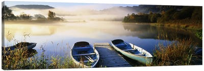 Rowboats at the lakesideEnglish Lake District, Grasmere, Cumbria, England Canvas Print #PIM7279