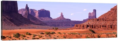 View To Northwest From 1st Marker In The Valley, Monument Valley, Arizona, USA,  Canvas Print #PIM727