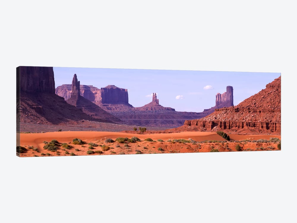 View To Northwest From 1st Marker In The Valley, Monument Valley, Arizona, USA,  by Panoramic Images 1-piece Canvas Art