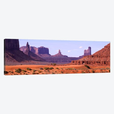 View To Northwest From 1st Marker In The Valley, Monument Valley, Arizona, USA,  Canvas Print #PIM727} by Panoramic Images Canvas Wall Art