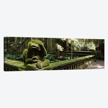 Statue of a monkey in a temple, Bathing Temple, Ubud Monkey Forest, Ubud, Bali, Indonesia Canvas Print #PIM7282} by Panoramic Images Art Print