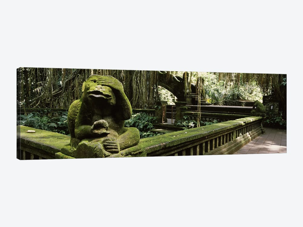 Statue of a monkey in a temple, Bathing Temple, Ubud Monkey Forest, Ubud, Bali, Indonesia by Panoramic Images 1-piece Art Print