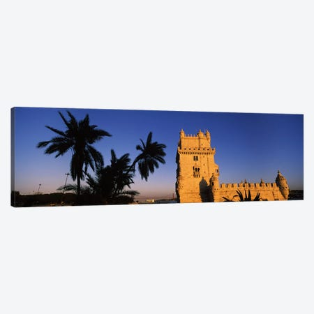 Low angle view of a tower, Torre De Belem, Belem, Lisbon, Portugal Canvas Print #PIM7296} by Panoramic Images Canvas Print