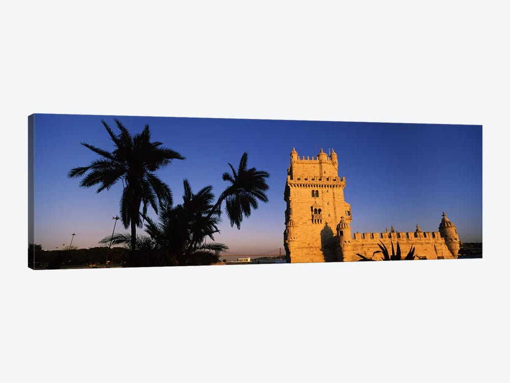 Low angle view of a tower, Torre De Belem, Belem, Lisbon, Portugal by Panoramic Images 1-piece Canvas Wall Art