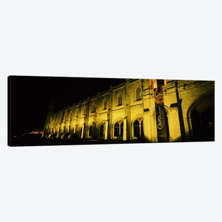 Low angle view of a monastery, Mosteiro Dos Jeronimos, Belem, Lisbon, Portugal Canvas Print #PIM7297} by Panoramic Images Art Print