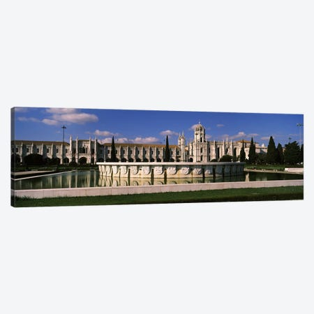 Facade of a monastery, Mosteiro Dos Jeronimos, Belem, Lisbon, Portugal Canvas Print #PIM7298} by Panoramic Images Canvas Art