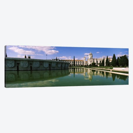 Facade of a monastery, Mosteiro Dos Jeronimos, Belem, Lisbon, Portugal #2 Canvas Print #PIM7299} by Panoramic Images Canvas Artwork