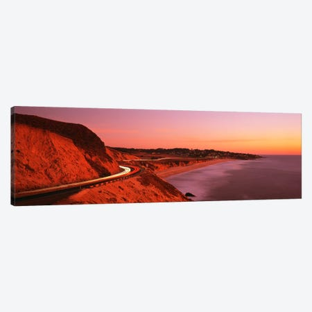 Motion Blur Along A Coastal Landscape At Sunset, California, USA Canvas Print #PIM72} by Panoramic Images Canvas Art Print
