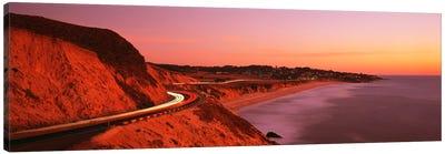 Motion Blur Along A Coastal Landscape At Sunset, California, USA Canvas Print #PIM72