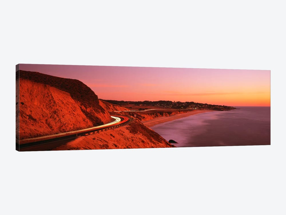 Motion Blur Along A Coastal Landscape At Sunset, California, USA by Panoramic Images 1-piece Canvas Art Print