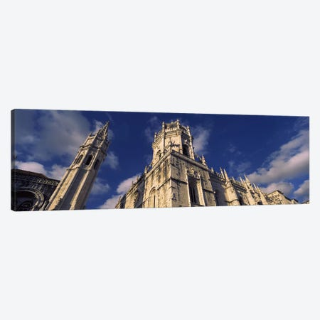 Low angle view of a monastery, Mosteiro Dos Jeronimos, Belem, Lisbon, Portugal #2 Canvas Print #PIM7300} by Panoramic Images Canvas Wall Art