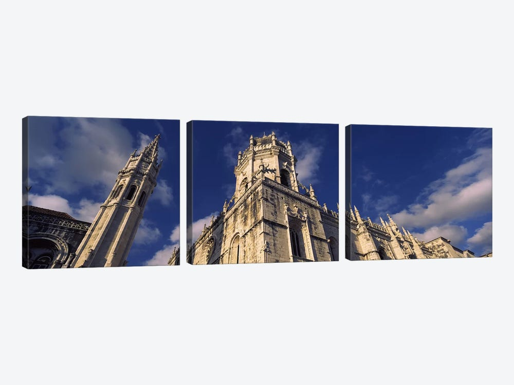 Low angle view of a monastery, Mosteiro Dos Jeronimos, Belem, Lisbon, Portugal #2 by Panoramic Images 3-piece Canvas Wall Art
