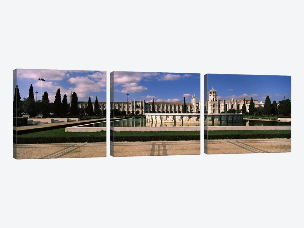 Facade of a monastery, Mosteiro Dos Jeronimos, Belem, Lisbon, Portugal #3 by Panoramic Images 3-piece Art Print